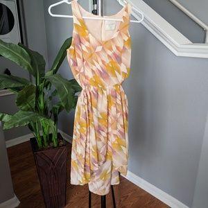 Anthropologie Line & Dot high-low cutout dress